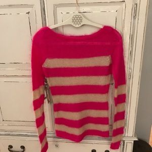 Juicy couture pink striped sweater Sz. Large
